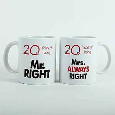 Always Right Couple Mugs White
