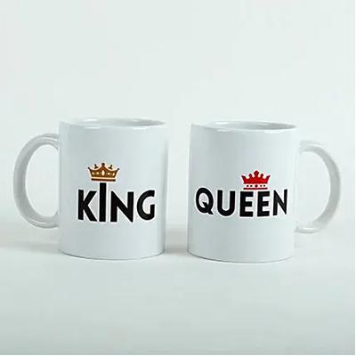 King Queen Printed Mugs