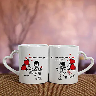 2 Ceramic White Mugs