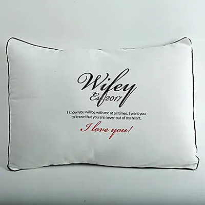 Wifey Love Personalized Cushion
