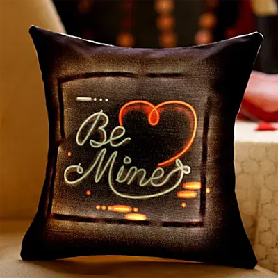Be Mine Heart LED Cushion