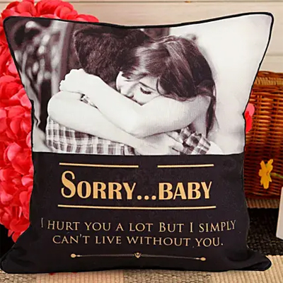 Personalized Sorry Cushion