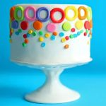Colourful Loops Fondant Chocolate Cake