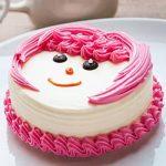 Pink Pineapple Cream Cake Half Kg