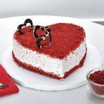 Red Velvet Heart Cake Half Kg