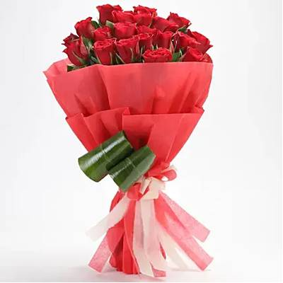 Romantic – 20 Red Roses Bouquet