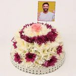 Personalised Daisy Floral Cake