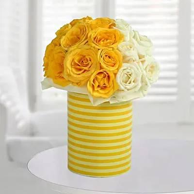 White N Bright Floral Arrangement