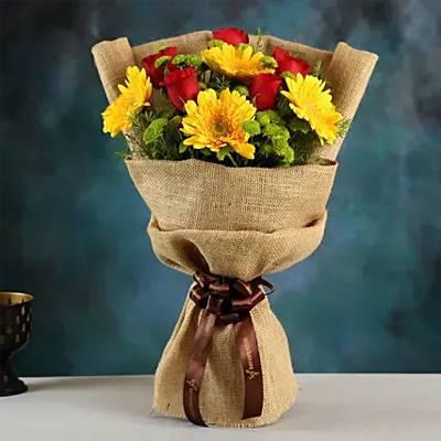 Bright Beauty Gerbera Floral Bouquet