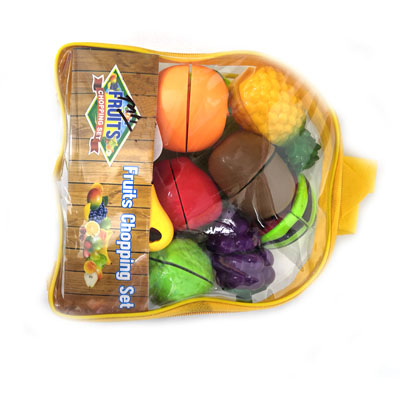 Toyshine Realistic Sliceable Fruits Cutting Play Toy Set, Can Be Cut in 2 Parts,