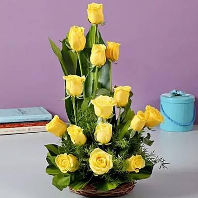 Sunshine Yellow Roses Bouquet