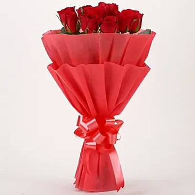Vivid – 10 Red Roses Bouquet