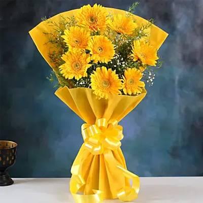 Yellow Mystique Gerbera Blossoms