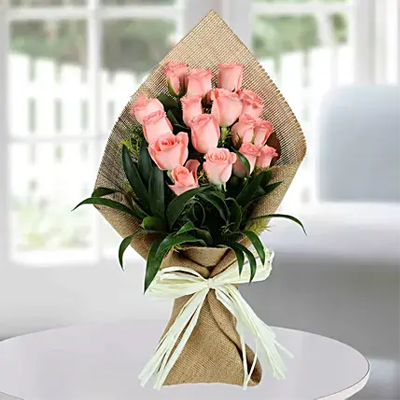 Sweet Pink Roses Bunch
